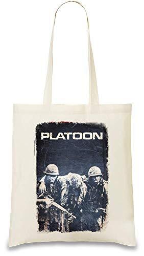 Platoon Film Gun Brüder - Platoon Movie Gun Brothers Custom Printed Tote Bag| 100% Soft Cotton| Natural Color & Eco-Friendly| Unique, Re-Usable & Stylish Handbag For Every Day Use| Custom Shoulder