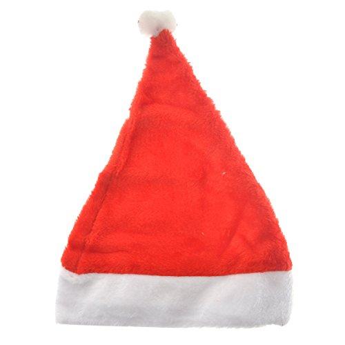 BESTOYARD Weihnachtsmütze für Erwachsene Neuheit Weihnachtsmütze lustige Partyhüte Weihnachten Kostüm Dekoration (rot) (Neuheit Weihnachtsmützen Kostüm)