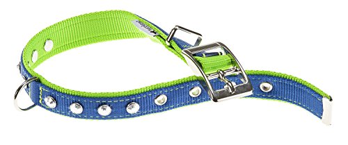 Double diamants Cf15/35 Collier en nylon Bleu/vert 15 mm X27-35 cm