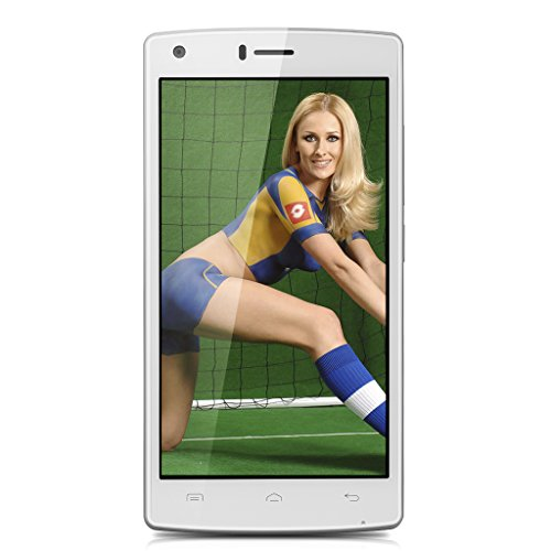 DOOGEE X5 MAX 5.0 Zoll 3G Smartphone ohne Vertrag Android 6.0 Quad Core 8MP Dual SIM Dual Kamera1GB RAM+8GB ROM Handy Simlockfrei Smart Wake Air Gesture Fingerabdrucksensor Weiß