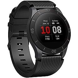 TOTOBAY Montre Connectée Smartwatch, Bluetooth Montre Sport avec Moniteur de fréquence Cardiaque Compteur de Calories 9 Modes Sportifs IP68 Appelez SMS Push pour Android iOS