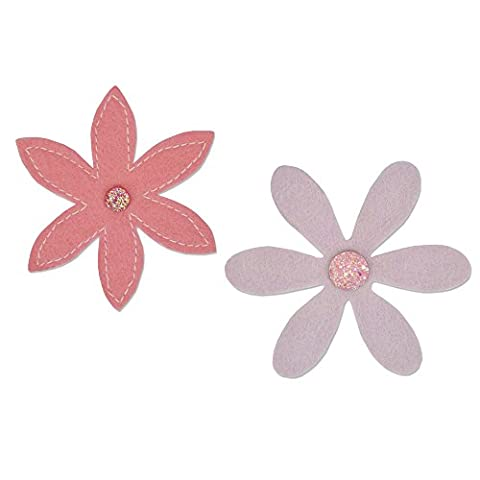 Sizzix Delightful Daisy Bigz Die, ABS Plastic/CARB Compliant Wood/Steel-Rule Blade/Long Lasting Ejection Foam, Multi-Colour