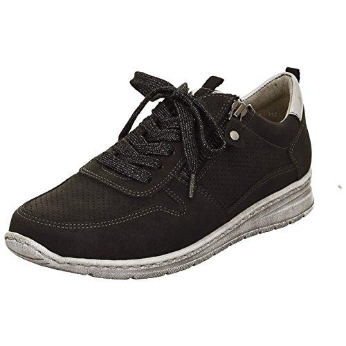 Jenny by ARA Sneaker da Donna Sapporo 22-52403-15 Nero/Titanio schwarz