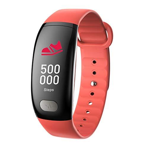 VRTUR Sport Armbanduhr Bluetooth 4.0 Smartwatch Herzfrequen Blutdruckerkennung, EKG,Schlafqualität Standard-Sportfunktion Smart Uhr Orange