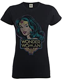 DC Comics Girls Official Wonder Woman Retro T-Shirt