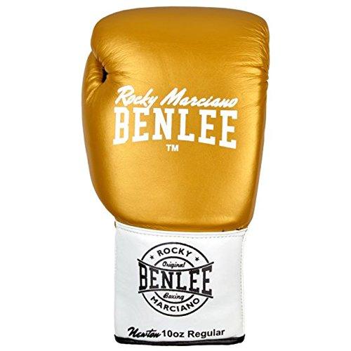 BENLEE Leather Contest Gloves NEWTON - Gold/White/Black Größe 10 oz L