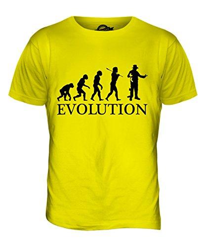 CandyMix Hexer Zaubere Evolution Des Menschen Herren T Shirt Zitronengelb