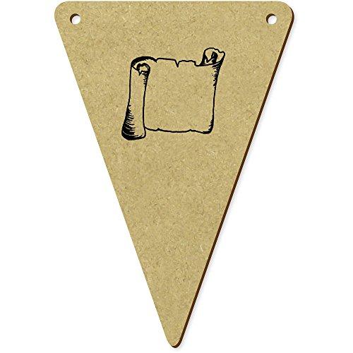 5 x 100mm 'Rouleau' fanions triangles en bois (BN00008596)