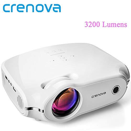 Crenova Video Projektor Für Volle HD 4 Karat Heimkino Film Projektor Mit 3200 Lumen HDMI VGA AV USB Beamer proyector