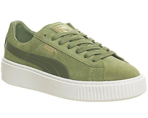Puma Damen Sneaker Suede Platform Oliv (45) ()