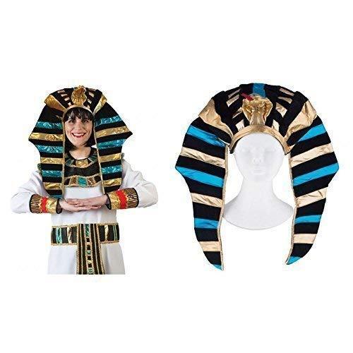 Lively Moments Pharaokopfschmuck / Ägyptische Kopfbedeckung / Hut / Fasching / Karneval / Ägypter Kostüm Zubehör