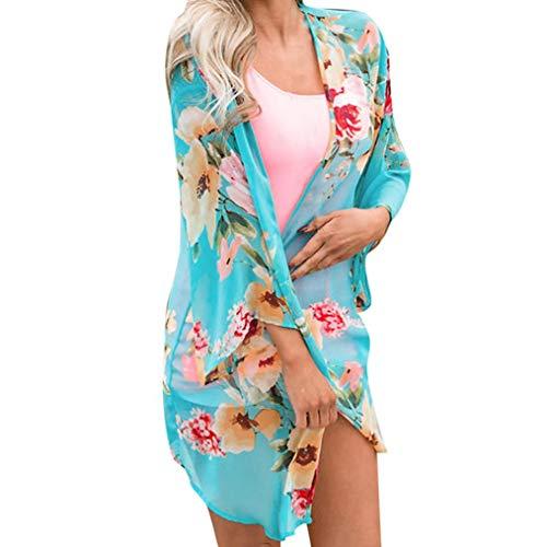Quaan Mode Frauen Chiffon Schal Drucken Kimono Strickjacke Oben Abdeckung bis Bluse Strandkleidung...