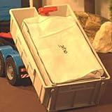 Containerbag 400 x 210 x 170 x 190 cm, 3seitige Schürze + Deckel, beschichtet, uv-stabilisiert, ohne Hebeschlaufen