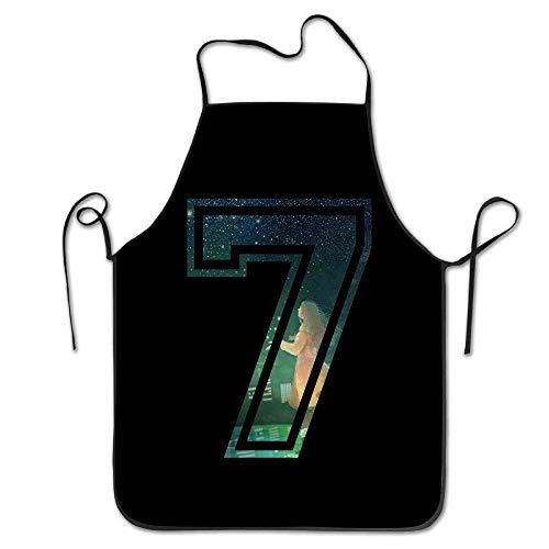 LarissaHi Unisex Schürze 7 Sieben Mädchen Nacht Design Kochschürzen für Frauen Kostüm Lustige Schürzen für Männer Spanisch BBQ Schürzen für Männer Frauen Sport Plus Size