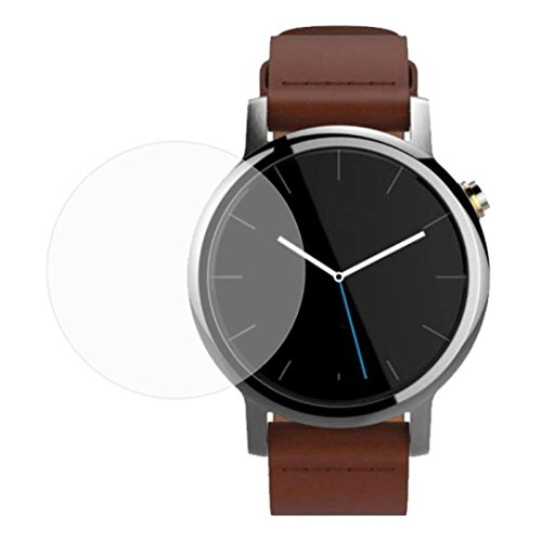 Fulltime® Moto 360 2(2015) Smartwatch 42mm ausgeglichenes Glas-Displayschutz 9H Runde Kante Echtglas kratzfest 0,3 mm Dicke (42 mm Zifferblatt)