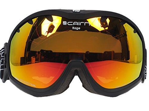 Masque-de-ski-mixtes-CAIRN-Noir-Mat-RAGE-Noir-MatMiroir-Orange-SPX-3000