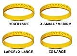 The Lance Armstrong Foundation, pulsera amarilla de goma de silicona para apoyar esta fundación...