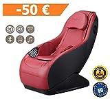 GURU Fauteuil de massage et relax - Rouge (modèle 2019) - 3 modes massage - Son surround 3D - Fauteuil massant avec fonction Bluetooth et port USB - Garantie Officielle 2 ANS de GLOBAL RELAX France