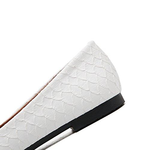 A & Ndiug00080 - Zapatos Cerrados Blancos De Mujer