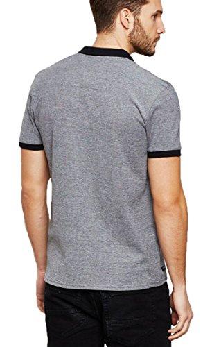Herren Threadbare Pique Polo Shirt Designer Kurzarm Sommer STRATFORD MMW  077 Schwarz
