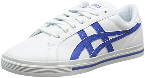 asics-unisex-adults-tempo-low-top-sneakers-white-white-classic-blue-105-uk-46-eu