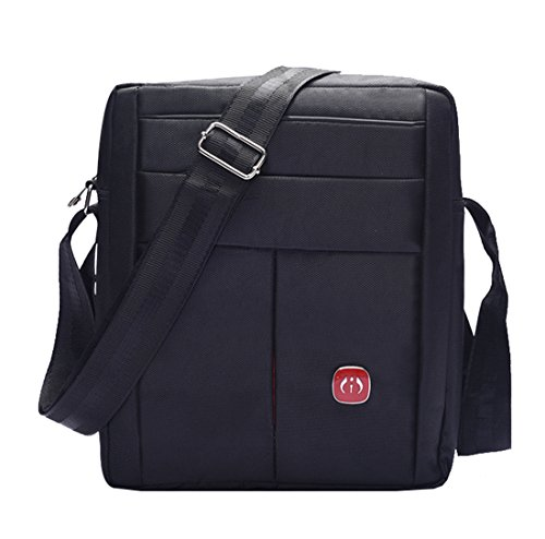Super moderno unisex multiuso piccola da spalla/viaggio utilità borsa lavoro pratico Handy da uomo in nylon messenger bag Black1