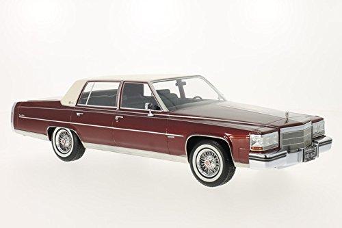 cadillac-fleetwood-brougham-metallic-rot-matt-weiss-1982-massstab-118-resine-fertigmodell-bos-models