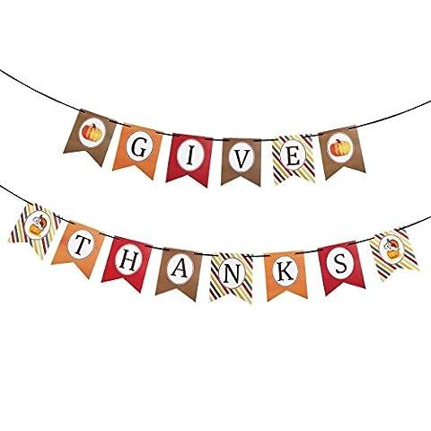 tankerstreet thanksgive Buchstabe Hängendes Banner Soffitte Girlande mit Kürbis Muster für Thanksgiving Celebration thanksgiven Party Decor