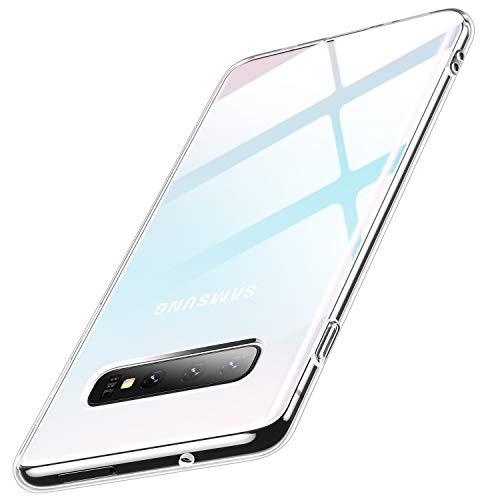 Humixx Kompatibel mit Samsung Galaxy S10 Plus Hülle, Premium Anti-Gelb TPU Silikon Ultra Dünn Slim Transparent Handyhülle, Crystal Clear Weich Soft Schutzhülle für Samsung Galaxy S10 Plus - Klar -