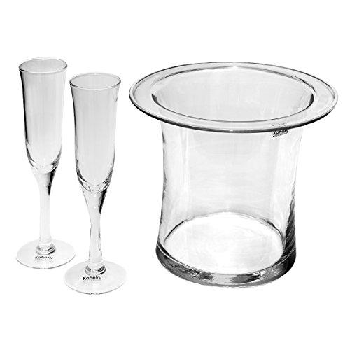 Sektkühler & 2 Sektgläser Set Flaschenkühler Sekt & Wein Champagner