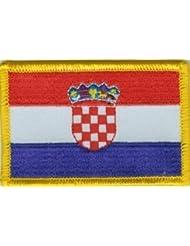 Yantec Patch écusson Drapeau Croatie 4x 6cm