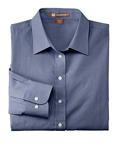 harriton M555 Homme Chambray pour homme DK BLUE CHAMBRAY