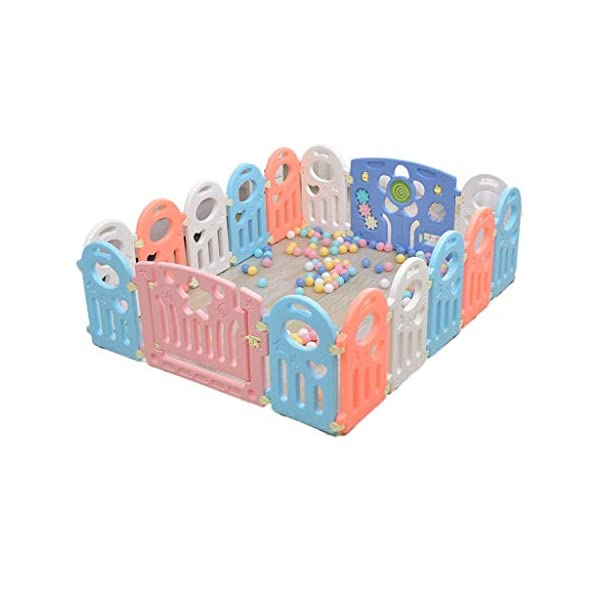"""HWZPPP KJZhu Infant Game Fence, Bedroom Living Room Baby Crawl Learning To Walk Protective Fence Indoor Playground Ocean Ball Pool 40-80CM Foldable HWZPPP ◆: High-quality and environmentally-friendly materials, easy to install, large space, stable to use, easy to carry; ◆: This product does not contain other accessories ------- To learn more styles, please search for """"HWZPPP"""" on Amazon.com, I wish you a happy life! ★Guarantee: If you provide us with photos after product logistics and shipping damage, we can replace or refund them for free; 1"""