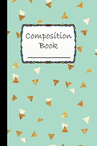 Composition Book: Cute Triangular Pattern Composition Book to write in - Wide Ruled Book - blue like sky background