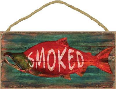 (sjt21519) affumicato (salmone) 12,7x 25,4cm wood plaque, sign–caratteristiche dell' opera di jq licensing