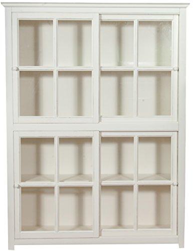 Libreria vetrina con ante scorrevoli in legno massello di - Libreria con ante ikea ...
