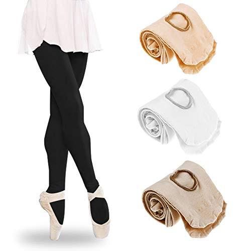 Tubwair Damen Ballett-Strumpfhose, Damen, Mädchen, Basic, Cabriolet, Übergang Ballett-Tanzstrumpfhose, nahtlos, Größe L, Weiß - 8