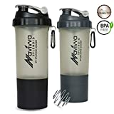 Best Blender Bottle Protein Shaker Bottles - Protein Shaker Bottle with Mixing Ball and Storage Review