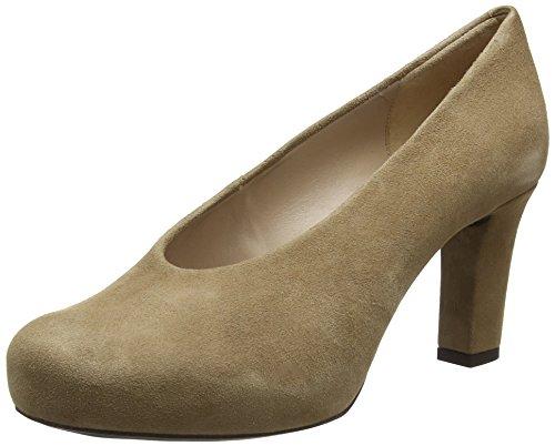 Unisa Women's Nebula_KS Closed Toe Heels, Beige (Macchiato Macchiato), 6 UK