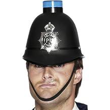 NET TOYS Elmo poliziotto berretto gendarme lampeggiante cappello pubblica  sicurezza casco polizia copricapo agente accessorio 6de3fa45c1be