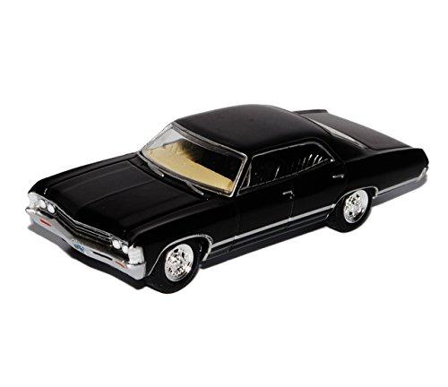 Greenlight Chevrolet Impala Limousine Schwarz 1967 Supernatural Join The Hunt 1/64 Modell Auto mit individiuellem Wunschkennzeichen
