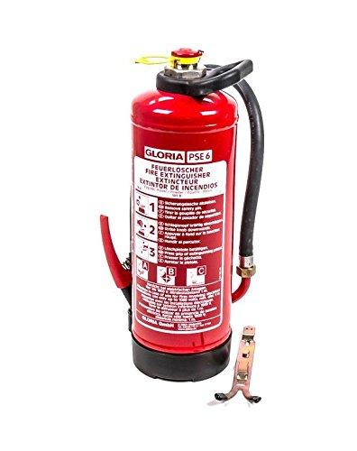 Preisvergleich Produktbild Gloria ABC-Pulver-Feuerlöscher PSE 6 GA, Schlagkopf, ÖNORM EN 3, Löschpulver 6 kg