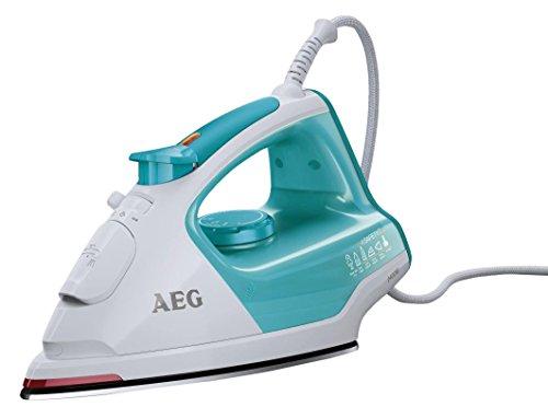 AEG-Dampfbgeleisen-4Safety-Plus-DB-5230-2400-Watt-120-g-Dampfsto-Glissium-80-Bgelsohle-Abschaltautomatik-Anti-Kalk-System-TurquoiseWei