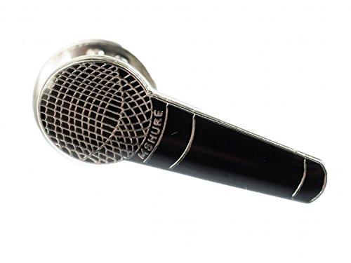 Miniblings Mikrofon Brosche Pin Anstecker Musik Hiphop Rap MC Mikro schwarz