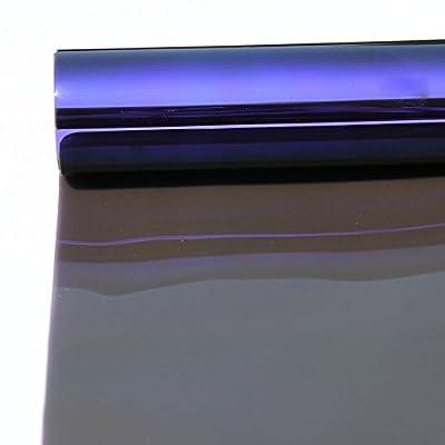 HOHO 90cmx100cm caméléon de voiture solaire teinté pour fenêtre latérale film en verre VLT15%
