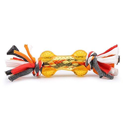 Kauspielzeug kauen Interaktives Knoten Spielzeug für Welpen großer Hund(Orange) (Disney-halloween-zeit)