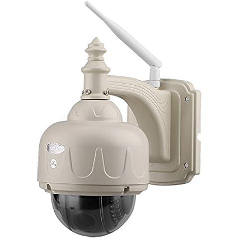 FLOUREON Wireless Videosorveglianza CCTV Camera IP Telecamera Impermeabile ( 720p
