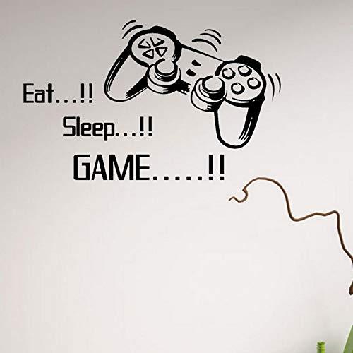 (Yzybz New Eat Sleep Spiel Buchstaben Game Controller Vinyl Wandaufkleber Für Jungen Jungen Schlafzimmer Home Dekorationen)