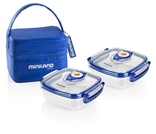 Miniland Pack-2-Go Hermifresh - Herméticos de vacío con funda, color azul
