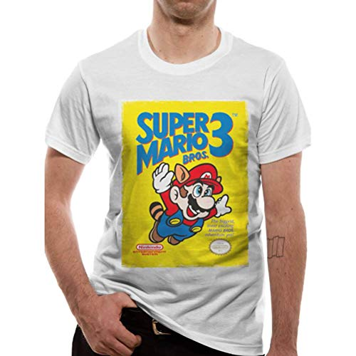 Super Mario Bros 3 T-shirt for Men, white